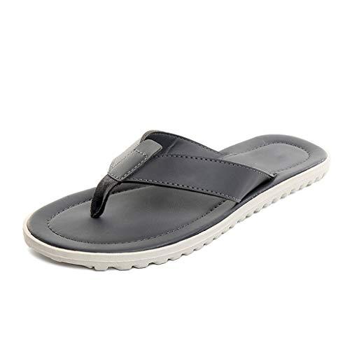 Grises tamaño Simple Sandalias Hombre Para Playa Casual Pantuflas Y Huyp Chancletas 41 De Verano Zapatillas Hombres EAgxUqw