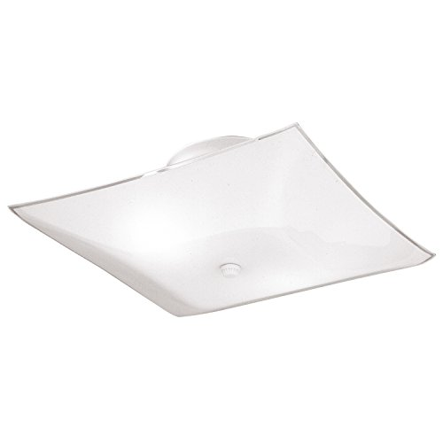 Westinghouse 66201 Semi-Flush Mount Square Ceiling - Glass Light Cover