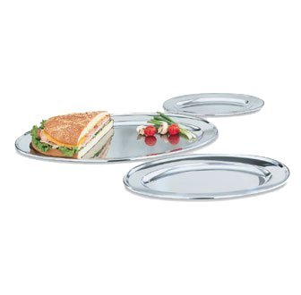 Vollrath Platter, Oval, stainless, 13 3/4