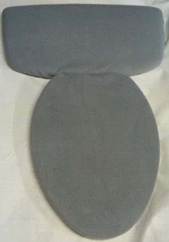 Amazon Com Gray Medium Fleece Fabric Cover Toilet Seat