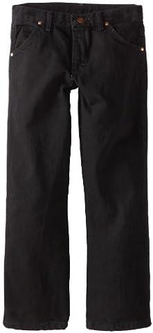 Wrangler Big Boys' Original ProRodeo Jeans, Overdyed Black Denim, 16 Regular - Co Black Denim