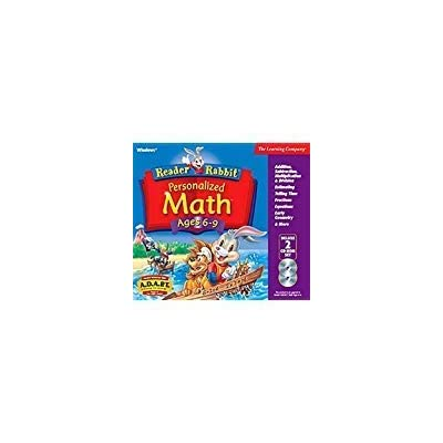 Reader Rabbit Personalized Math Ages 6 - 9 Deluxe (2 CDs): Toys & Games