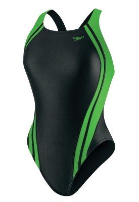 Women's Race Quantum Splice Super Pro Swimsuit, Black and