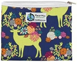 product image for Planet Wise Reusable Zipper Sandwich and Snack Bags, Sandwich, Caribou Bloom