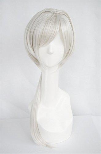 [Lanting Cosplay wig Norn9 Nijou Sakuya white Long Lolita Beauty Woman Anime Human Costume Full wigs Synthetic Hair Heat Resistant] (Female Flasher Adult Costumes)