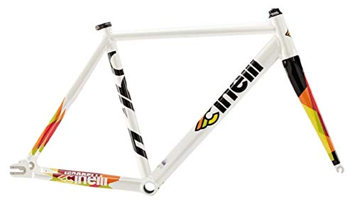 Cinelli Men's Vigorelli Alum Track Bicycle Frame Set, 58cm/X-Large, White from Cinelli
