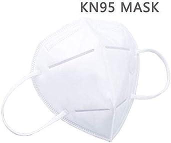KN95 Mascarillas Anticontaminación Mascarillas Desechable para Polvo no Tóxica y Filtro Máscara Mascarillas de Protección Unisexo - 2 pcs