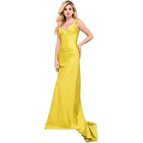 Cross Back Formal Dress - 3