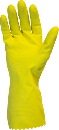 - The Safety Zone GRFY-XL-1C Flock Lined 18 Mil Latex Rubber Gloves, X-Large, Yellow, 12 Pair Individually Bagged (Case of 120)