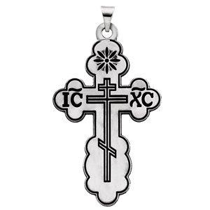 En argent sterling Pendentif Croix orthodoxe 40x 26mm