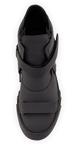 Giuseppe Zanotti Militaire-noir Ulan Double-sangle Requin Sneaker Botte 13 Us / 46 Eu