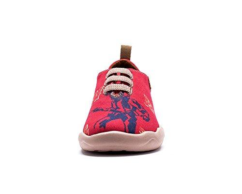 UIN Bataille à l'ouest Chaussures de toiles casual età la mode rouge pour enfant (adolescent)