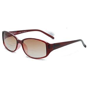 In Style Eyes Stylish Bifocal Sunglasses Burgundy 2.50 Strength