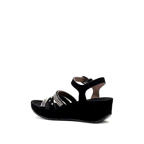 CAFèNOIR Qhd611 - Sandalias de cuña Mujer Nero