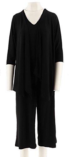 Attitudes Renee Petite 3-Pc Wardrobe Warrior A275063, Black, PXS from Attitudes by Renee