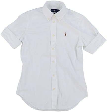 f6fc6c463 Polo Ralph Lauren Women s Short Sleeve Slim Fit Oxford Shirt