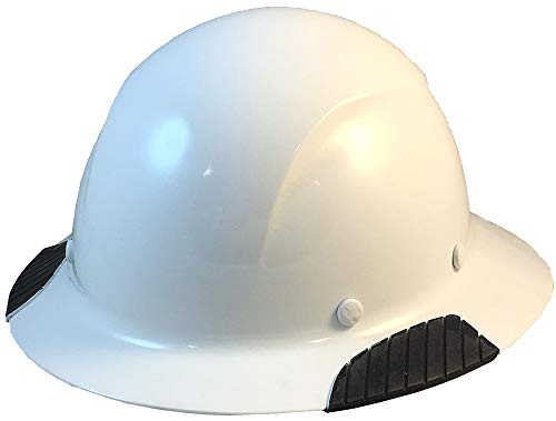 DAX Actual Carbon Fiber Material Hard Hat with Hard Hat Tote- Full Brim, White