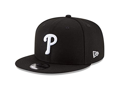 New Era 9Fifty Hat Philadelphia Phillies Basic Black Snapback Adjustable Cap ()