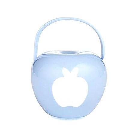 //Beruhigungssauger Schachtel Schnullerbox Schnullerkette in hellblau blau hellblau in Form von Apfel Portable Baby Infant Pacifier Nipple Travel Case Fruit Storage Box
