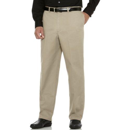 Plain Front Chino Pants - 4