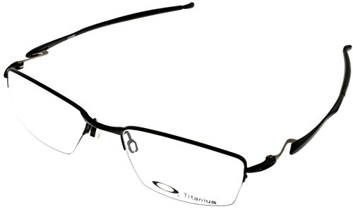Oakley Wingfold 0.5 OX5101-0153 Satin Black Semi-Rimless Eyeglasses - Rimless Titanium Frames Oakley