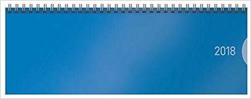 Tisch Querkalender 1Woche 1Seite blau Tischkalender Querterminbuch Büro