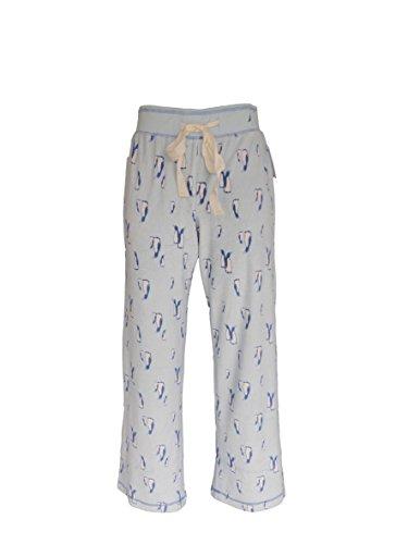 "Nautica Sleepwear Women's Ankle Pajama Lounge Pants 28"" Length (Small, Blue penguins)"