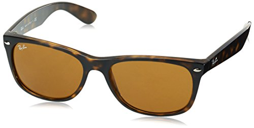 52 Wayfarer Crystal Soleil Ban Wayfarer Brown Ray Marron Lunettes RB2132 mm de New Light 0aw87