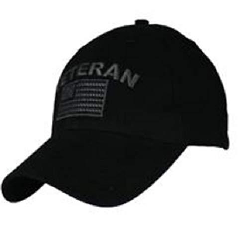 (Veteran Flag Hat / Black Tone on Tone Baseball)