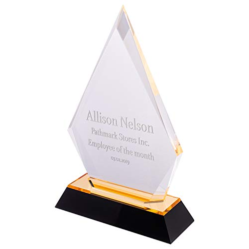 United Craft Supplies Personalized Trophy Award Plaque for Winner, Achievement at Work or School (Arrowhead, -