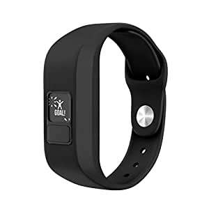 Sport Silicone Band Replacement for Garmin Vivofit3 / Vivofit JR Watch, Kids/Adults, Candy Colors (Black)