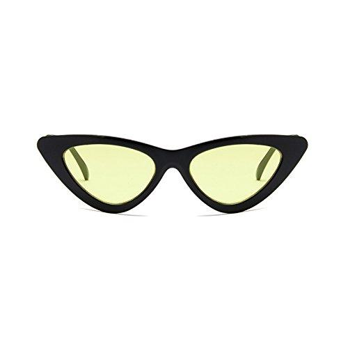 Triangle Rétro Cat à Mode de Homme iShine Lunettes Verres Etui Chat Fumés Noir Encadré avec Plein Eye Soleil de Yeux pour Portable en Lunettes Cadre Femme jaune qwxdPC