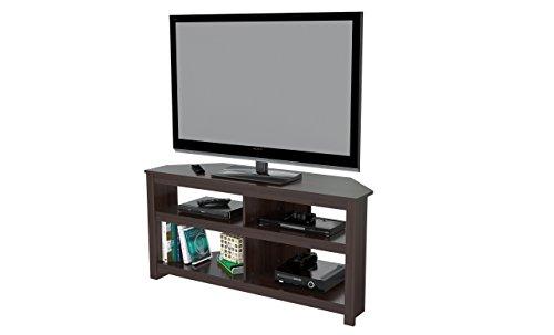 Inval MTV-13519 50' Corner TV Stand, Espresso