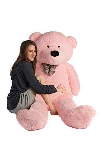 Cuddly Pink Teddy Bear - Mr. Bear Cares Giant Teddy Bear 6.7 ft Tall - Unique Gift for a Loved One - Soft and Cuddly - Pink