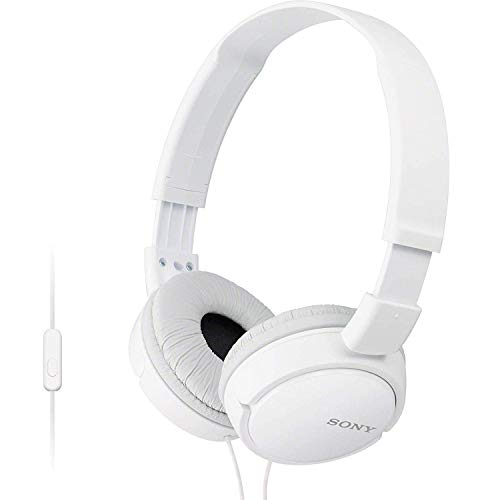 (Sony Premium Lightweight Extra Bass Stereo Headphones with Universal in-line Microphone and Remote for Apple iPhone/Android Smartphone (White))
