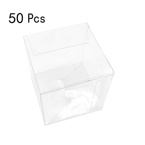 Clear Plastic Party Favors Treat Boxes - Transparent Small Gift Packing Boxes Baby Shower Birthday Wedding Bridal Shower Party Favors Candy Treat Boxes Supplies, 2x2 inch, -