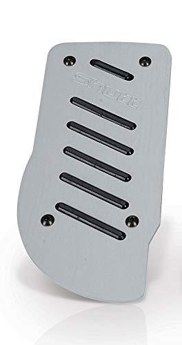 Shutt GT DGT1S Silver and Black Rubber Aluminum Dead Pedal Kick Foot Rest Universal Fit