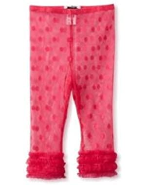 Wild Child Lace Legging Capris, 2T, Fushia