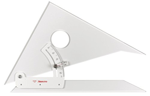 Aristo : Adjustable Set Square : 45 Degrees : 10in by Aristo (Image #1)