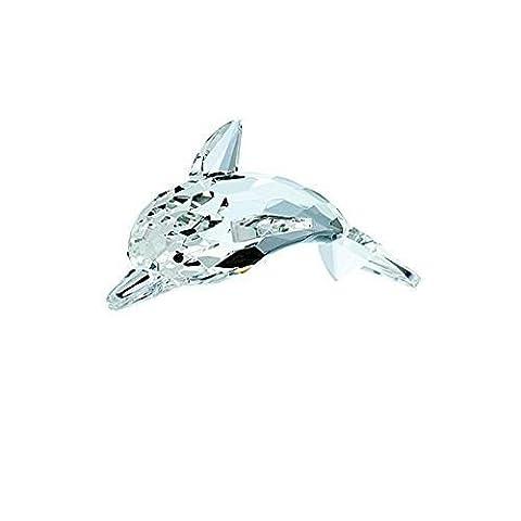 Belleek Galway Crystal IC15 Dolphin Figurine, 2.2-Inch, Clear - Crystal Fish Figurine