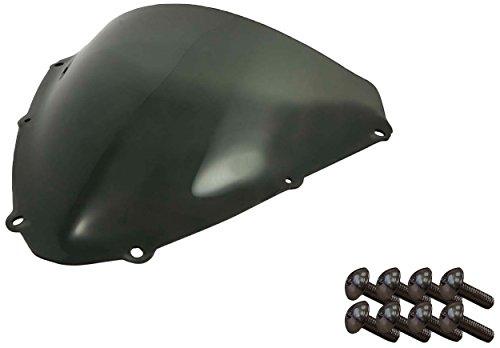Sportbike Windscreens ADSW-210S Smoke Windscreen (Suzuki Gsxr 600/750 (08-09) with Silver Screw kit), 2 Pack