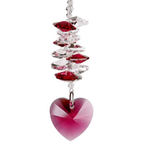 Wind Chime Crystal Heart Cascade Rainbow Maker Passion Crystal