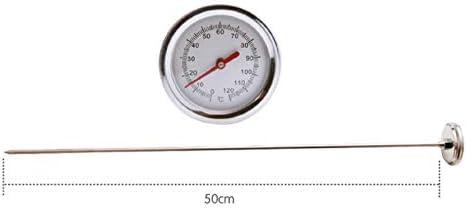 Kamenda 2 unidades, 50 cm, acero inoxidable, calidad alimentaria Term/ómetro de compostaje para suelos