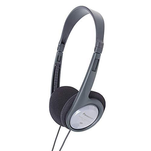Panasonic RP-HT090E-H beugelhoofdtelefoon (hoofdtelefoon met lange kabel; tv-hoofdtelefoon; 3,5 mm jackplug) grijs