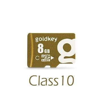 Amazon.com: goldkey Micro SD 8 GB Clase 10 con adaptador ...