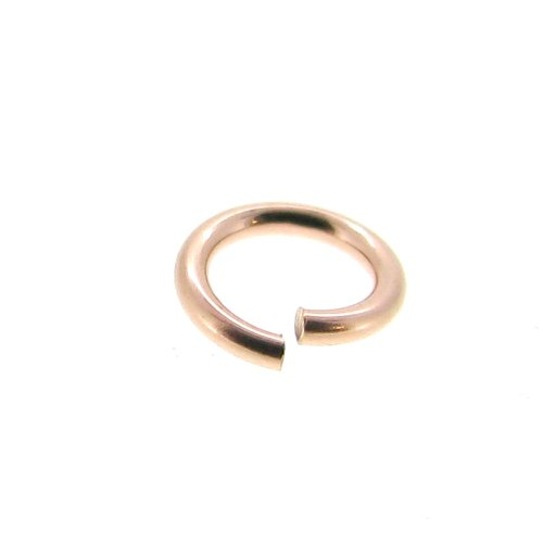 20 pcs 14k Rose Gold Filled 3mm Round Open Jump Rings 22 Gauge / 0.6mm Wire / Connector / Findings / Rose Gold