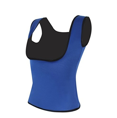 Iumer Women's Compression Vest Sleeveless Shirts Sports Tight Shirts Fitness GYM S-XXL Blue (Sleeveless Tights)