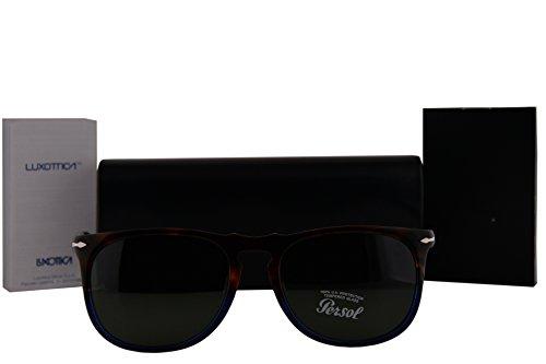 Persol PO3113S Sunglasses Terra E Oceano w/Green Lens 102231 PO 3113-S - Po3113s Persol