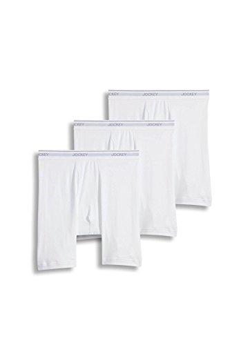 Jockey Men's Underwear Staycool Midway Brief - 3 Pack, White, L