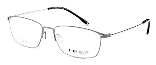 Heles Women New 100% Pure Tianium Full Rim Glasses Optical Frame Prescription Eyeglasses Frames Silver 53-17-140